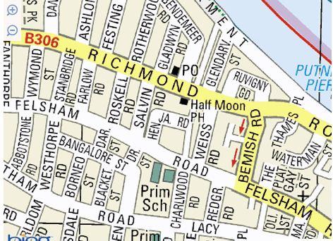 map of felsham road